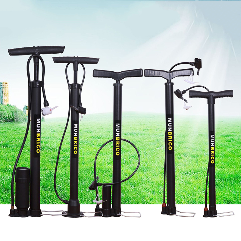 High Quality Mountain Bike Bicycle Air Pump Bicycle Accessories Floor Type High Pressure Bicycle Pump Portable Bycicle Pump
