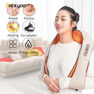 LaGuerir Home Car U Shape Electrical Shiatsu Back Neck Shoulder Body Massager Infrared Heated Kneading CarHome Massagem