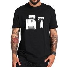 Dyskietka USB jestem twoim ojcem T-shirt Geek prezenty Tshirt Vintage 100% bawełna wysokiej jakościowy projekt topy Tee
