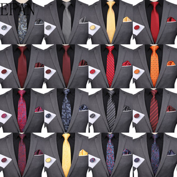 New Wedding Men Tie Red Gray Black Striped Fashion Designer Ties For Men Business 8cm Dropshiiping Groom Tie Factory Customize