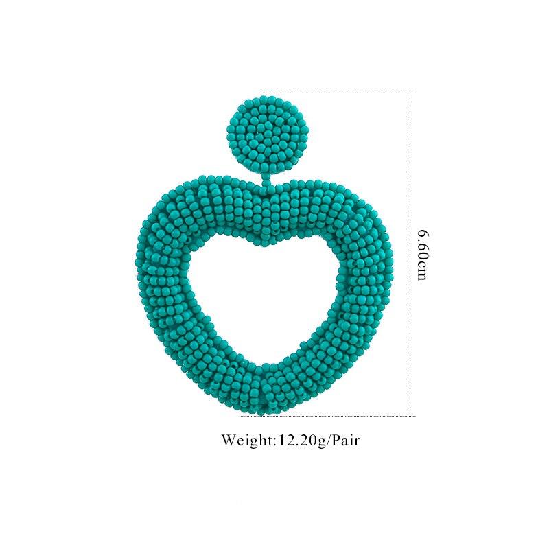 Sehuoran 2019 New Design Oorbellen Boho Simple Handmade Heart Crystal Beads Earrings Statement Wedding Bridal Fashion Jewelry  (7)