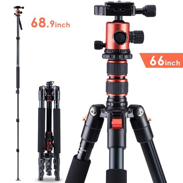 ZAYEX trípode profesional para cámara de viaje, monopié de aluminio ligero y portátil para cámara digital SONY Canon DSLR