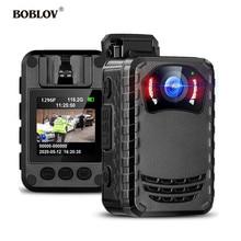 BOBLOV كاميرا صغيرة للجسم N9 Full HD 1296P ، كاميرا صغيرة محمولة مع رؤية ليلية وجسم الشرطة ، 128 جيجابايت/258 جيجابايت