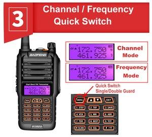 Image 4 - 2021 Walkie Talkie a lungo raggio 50km Baofeng UV 9R Plus 160CH Radio bidirezionale VHF UHF Radio Station UV9R Plus CB Ham HF Transceiver