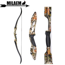 1pc 56inch 30-50 lbs Archery Recurve Bow Takedown American Hunting Bow 17inch Bow Riser Right Hand Hunting Shooting Accessories недорого
