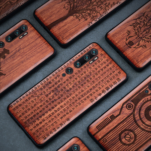 Image 5 - Phone Case For Xiaomi Mi Note 10 Pro Original Boogic Wood TPU Case For Xiaomi Mi Note10 Note 10 Pro Phone Accessories