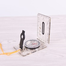 Compass Map Ruler Baseplate Multifunctional Hiking Outdoor Camping Travel Folding