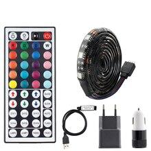 DC 5 в USB светодиодный светильник s полоса RGB ТВ ПОДСВЕТКА SMD 5050 водонепроницаемый 5 в RGB USB светодиодный ленточный светильник Ambi светильник 44key пульт дистанционного управления