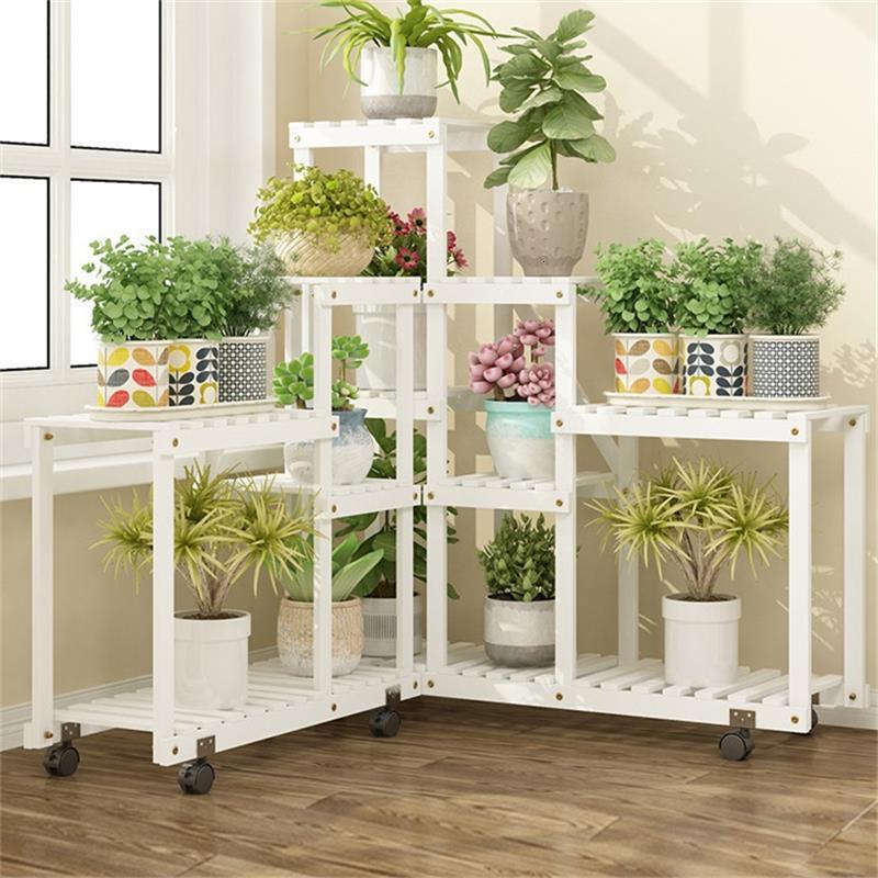 Plante Wooden Shelves For Mueble Repisa Para Plantas Ladder Indoor Stojak Na Kwiaty Shelf Plant Rack Outdoor Flower Stand