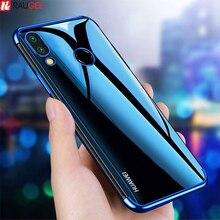 Funda enchapada para Huawei P Smart 2019, carcasa trasera de silicona transparente para Huawei P Smart Z Plus 2019 P Smart 2018