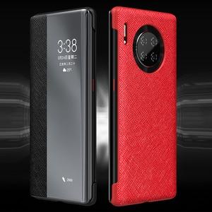 Image 4 - Флип чехол из 100% натуральной кожи для Huawei Mate 30 Pro, чехол с функцией сна и пробуждения, защитный чехол для Huawei Mate30