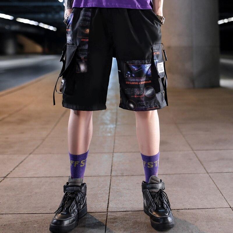 Streetwear Men's Shorts Knee Length 2020 Summer New Fashion Printed Hiphop Men Short Pants Mens Beach Pants Loose Leisure