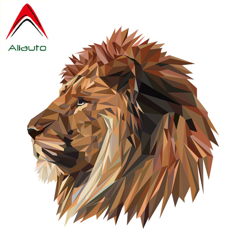 Aliauto Car Stickers Lion Head Auto <font><b>Accessories</b></font> PVC Decal for Hyundai I40 Bmw E92 Toyota Hilux <font><b>Smart</b></font> <font><b>Fortwo</b></font> <font><b>451</b></font>,15CM*16CM image