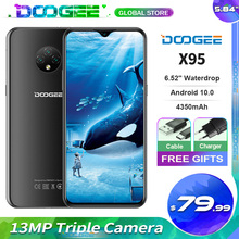 "DOOGEE X95 נייד טלפון 6.52 ""תצוגת אנדרואיד 10 4G LTE 13MP לשלושה מצלמה 2GB RAM 16GB ROM MTK6737 4350mAh נייד"