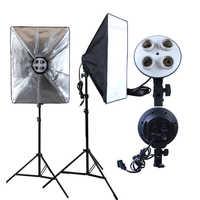 Foto Studio Softbox 50*70cm Diffusor 4 in 1 Lampe Halter E27 Buchse Kontinuierliche Beleuchtung mit 2M licht Stehen Stativ für Video