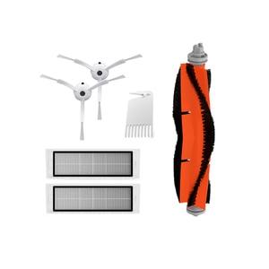 Escova lateral hepa filtro principal acessórios para xiaomi mijia mi 1 2 roborock s50 s51 s55 s6 s5 robô aspirador de pó peças reposição