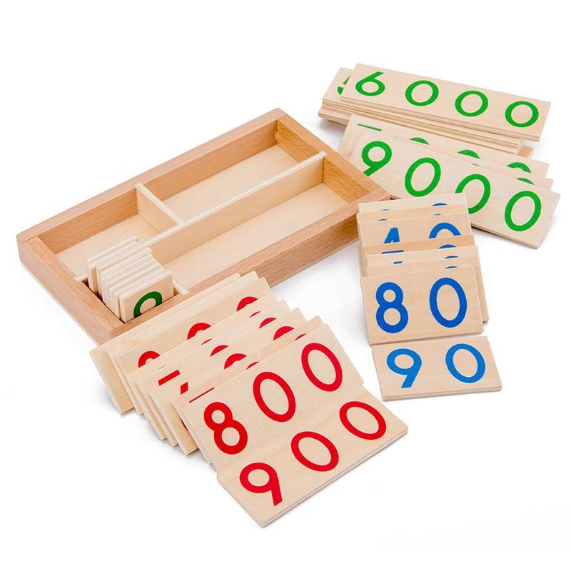 Детские Деревянные Монтессори цифры 1-9000 обучающая карта математические Обучающие пособия для детей дошкольного возраста обучающие игрушк...