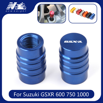 For Suzuki GSXR 600 750 1000 K1 K2 K3 K4 K5 K6 K7 K8 K9 Motorcycle Wheel Tire Valve Stem Caps Dust CNC Aluminum Airtight Cover image