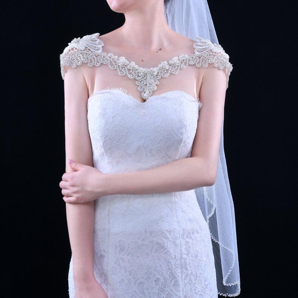 TRiXY G12 White Crystal Bling Beaded Wedding Wraps Luxury Beading Bridal Shawl Jacket Bolero Wrap Bridal Wedding Cape for Girl