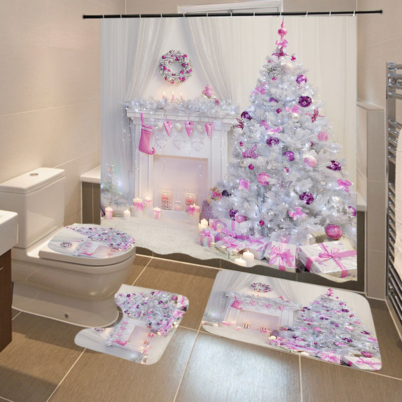 Christmas Snow Printing Made Of Polyester Fiber Material Suitable For Bathroom And Toilet 1