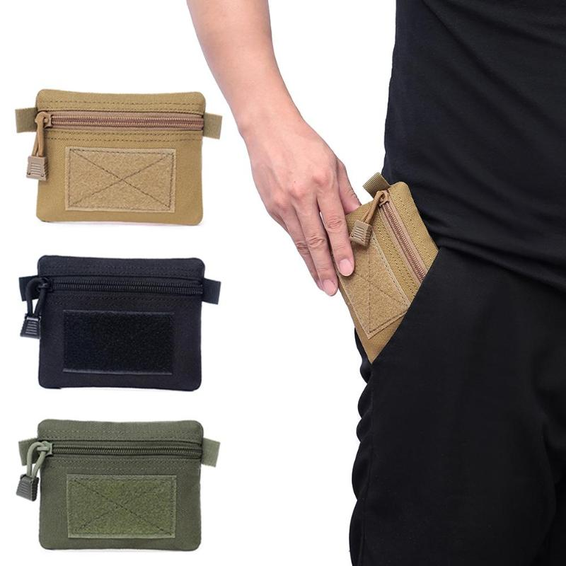 Outdoor EDC Molle Pouch Wallet Waterproof Portable Travel Zipper Waist Bag For Camping Hiking