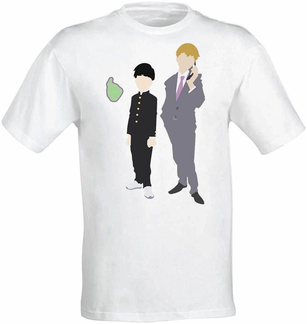Mob Psycho 100 Shigeo Kageyama E Arataka Reigen Anime Degli Uomini Top White T Shirt Spedizione Gratuita Magliette E Camicette Tee Shirt