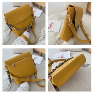 Image 5 - Wild Texture Crossbody Bags Womens Handbag The New Fashion PU Womens Solid Color Chain Shoulder Bags