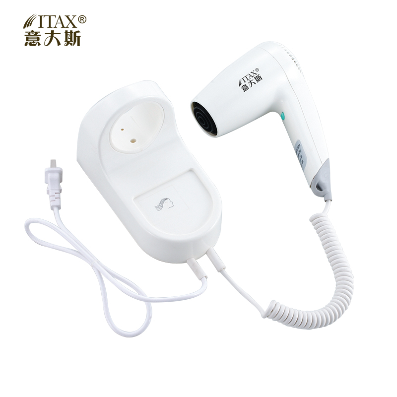 AC Electric unfoldable wall mounted ABS plastic hair dryer Europe UK Emerica plug home/hotel hair dryer