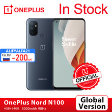 Versão global oneplus nord n100 4gb 64gb smartphone snapdragon 460 90hz 6.52 screen tela 13mp triplo 5000mah oneplus loja oficial