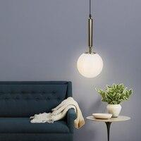 Nordic E14 Base Pendant Lamp Single Head Light Glass Modern LED Hanging Lighting Living Room Bedroom Decoration Fixtures
