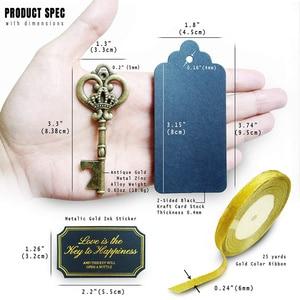 Image 5 - 36/50 stücke Schlüssel Flasche Opener mit Tags Braut Hochzeit Wein Ring Keychain Party Favor Braut Dusche Bevorzugungen Hochzeit Geschenke für gäste