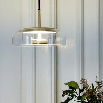 Post-moderne Luxus Glas Kronleuchter Lichter Nordic Stil Kreative Bar Lüster Pendentes Lampe Wohnzimmer Hanglamp Decor Fixture