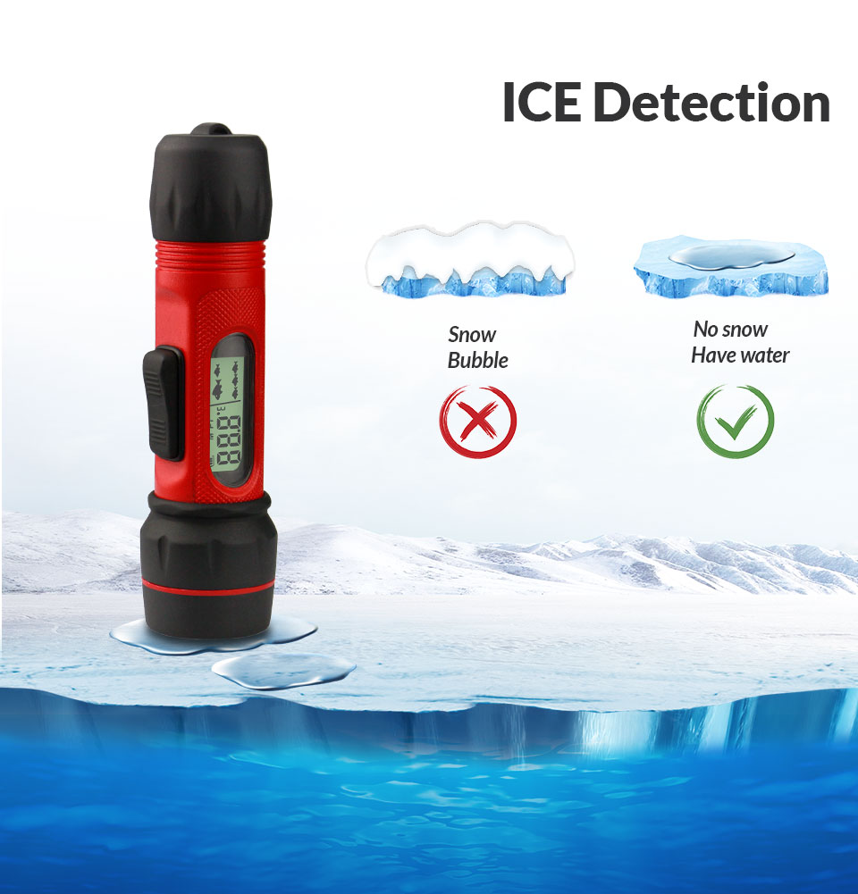 WILDGAMEPLUS F12 Ice Detector <font><b>Fish</b></font> <font><b>Finder</b></font> <font><b>Wireless</b></font> <font><b>Sonar</b></font> Fishing <font><b>Finder</b></font> 90m Depth Sounder Fishfinder for Winter ICE Fishing Gear image