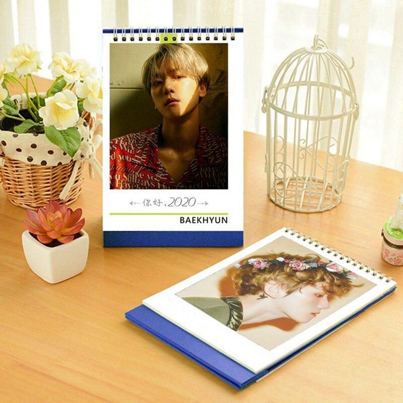 EXO Around 2020 Desk Table Calendar Creative Desk Vertical Paper Photos Calendar Fans Collection Gift