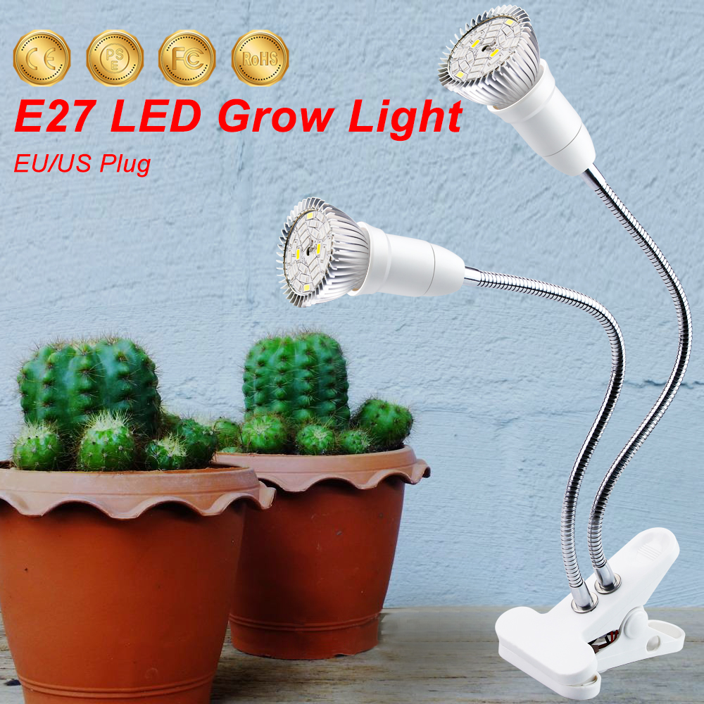 LED Grow Light Clip Plant Growth Lamp For Vegetable Flower Hydroponics Plant Indoor Lighting Greenhouse LED Plant Growth Lamp