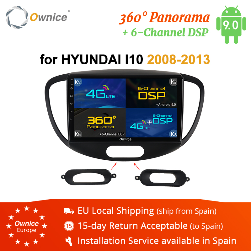Ownice Android 9.0 360 Panorama Car GPS Navigation Radio for Hyundai I10 I30 2007 2013 2din K3 K5 K6 Car Player 4G DSP Optical