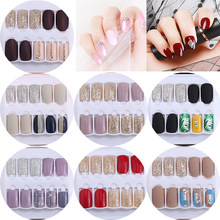 30PCS Short False Nails Set with Design Artificial Fake Nails Press On Nail Tips Decoration for Manicure False Nails Kit