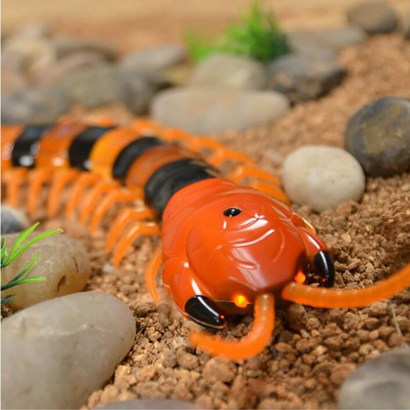 Novelty Fun Insect Toys Radio Infrared Remote Control Machine Bionic Centipede Animal Prank Funny Gadgets Children Gift in RC Robots Animals from Toys Hobbies
