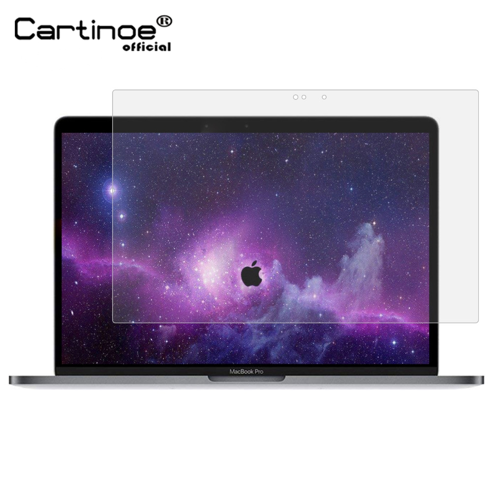 Cartinoe Laptop Screen Protector For Apple Macbook Pro 15 2018 Touch Bar A1990/ A1707 Anti Glare Matte Screen Guard Film (2pcs)