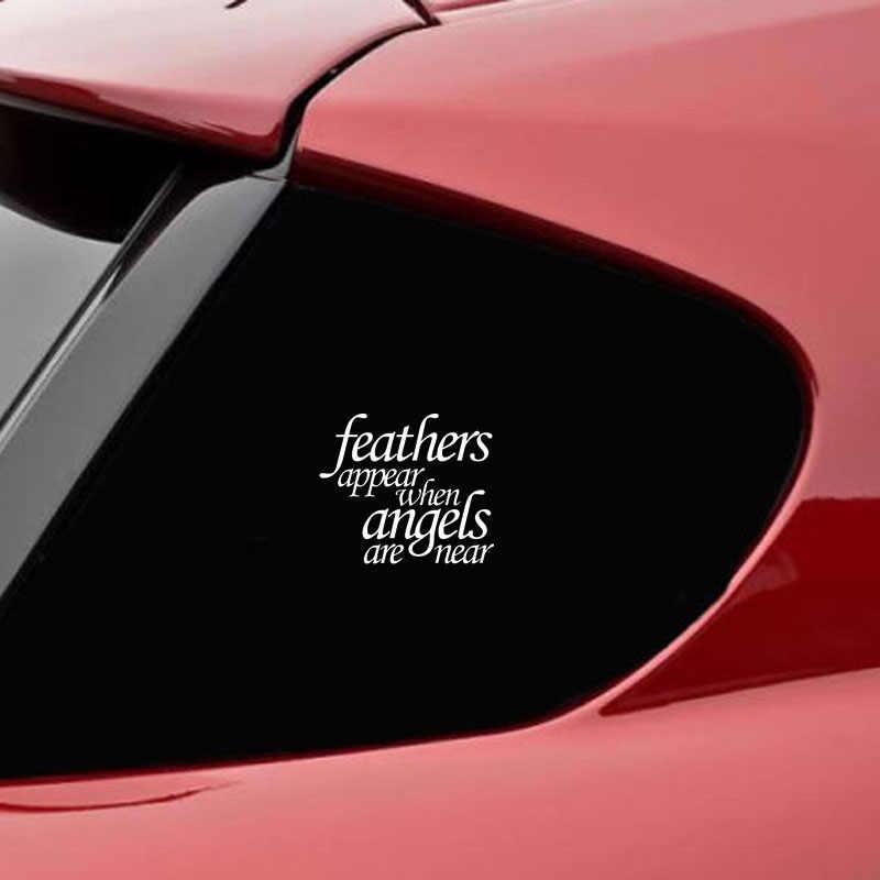 14*12.1CM Veer Verschijnen Wanneer Angels Buurt Logo Auto Stickers Deur Side Car Decal Emblem Accessoires voor dodge Mustang lexus