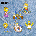 2020 Новый Гомер Барт штырь отворотом Мэгги акриловая брошь с персонажами из мультфильмов из эпоксидной смолы, булавки, ювелирное изделие для...