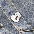 Happy Drink Cat металлическая брошь с эмалью, креативный значок с изображением белой лисы, булавка, милый забавный лацкан рюкзак, украшение для жив...