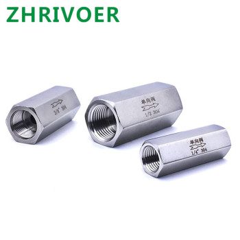 1/8'' 1/4'' 3/8'' 1/2'' 304 stainless steel check valves gas water one-way valve 1 3 8 plunger check valve avoid direct contact between the torch flame and the valve body in any case replace superior valves