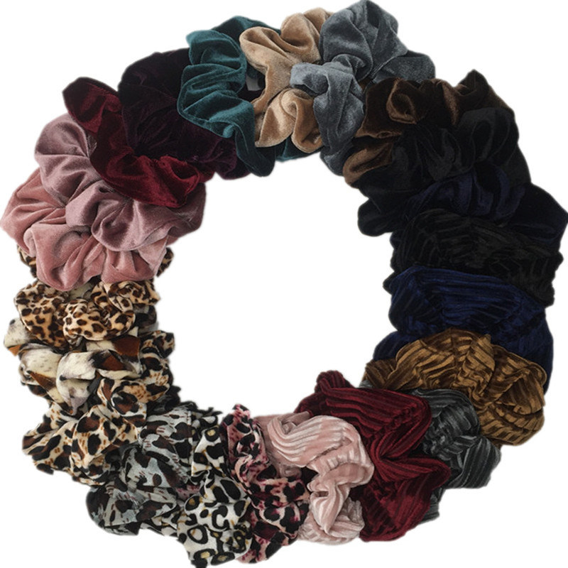 6PCS/LOT New Arrival Women's Velvet Hair Scrunchies Hair Tie Hair Accessories Ponytail Holder Hair