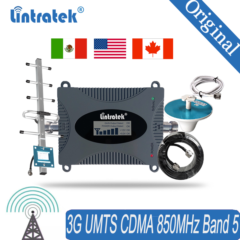 Signal Booster For Cell Phone 850MHz Wireless Cellular Repeater 3G Mobile Phone Repeater Signal Booster Amplifier 4