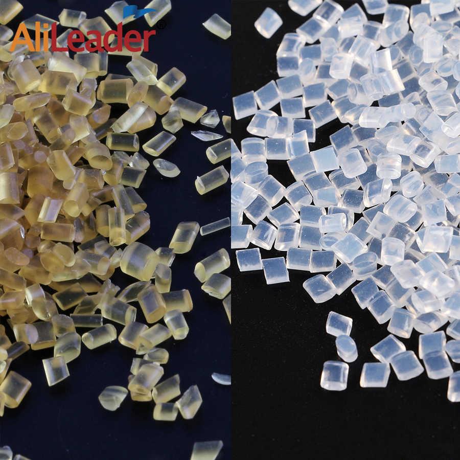 Alileader 最高品質のイタリアケラチン接着剤ストロングホールド 20/50/100 グラム/ロット白ブラウン溶融ケラチンスティックのり毛延長のための