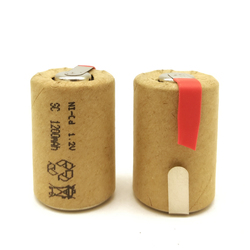 100%new High quality battery rechargeable battery sub battery 4/5 SC Ni-Cd battery 1.2 v with tab 1200 mAh