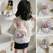 2020 New Toddler Girl Kid Cute Cartoon Animal Small Backpack Sequin Bunny School Bags Nursery Rucksack(China)