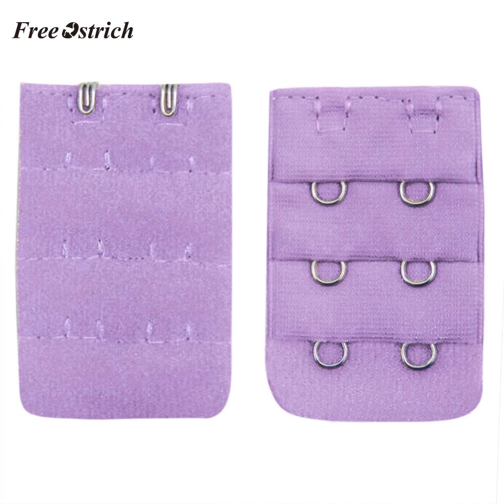 Free Ostrich HOT Sale Women Underwear Buckle Soft Comfortable Bra 2x3 Hooks Extender Strap Adjustable Extension 908