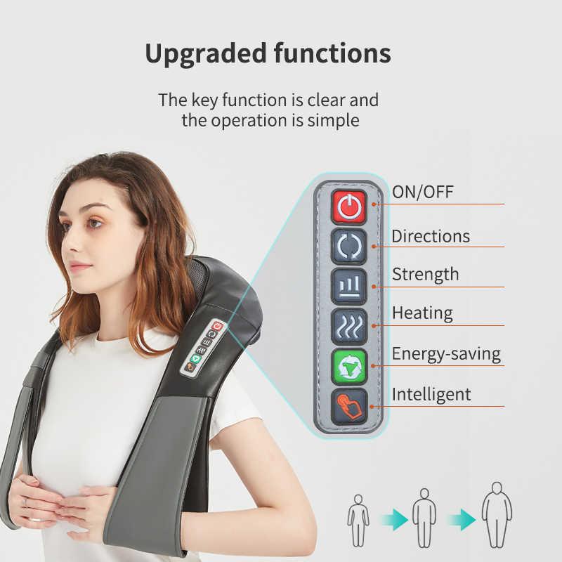 (Mit Geschenk Box) KLASVSA Elektrische Heizung Neck Massager Auto Home Infrarot KneadingTherapy Schmerzen Schulter Zurück Massageador Entspannen